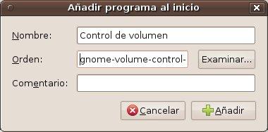 añadir un programa de inicio a Gnome